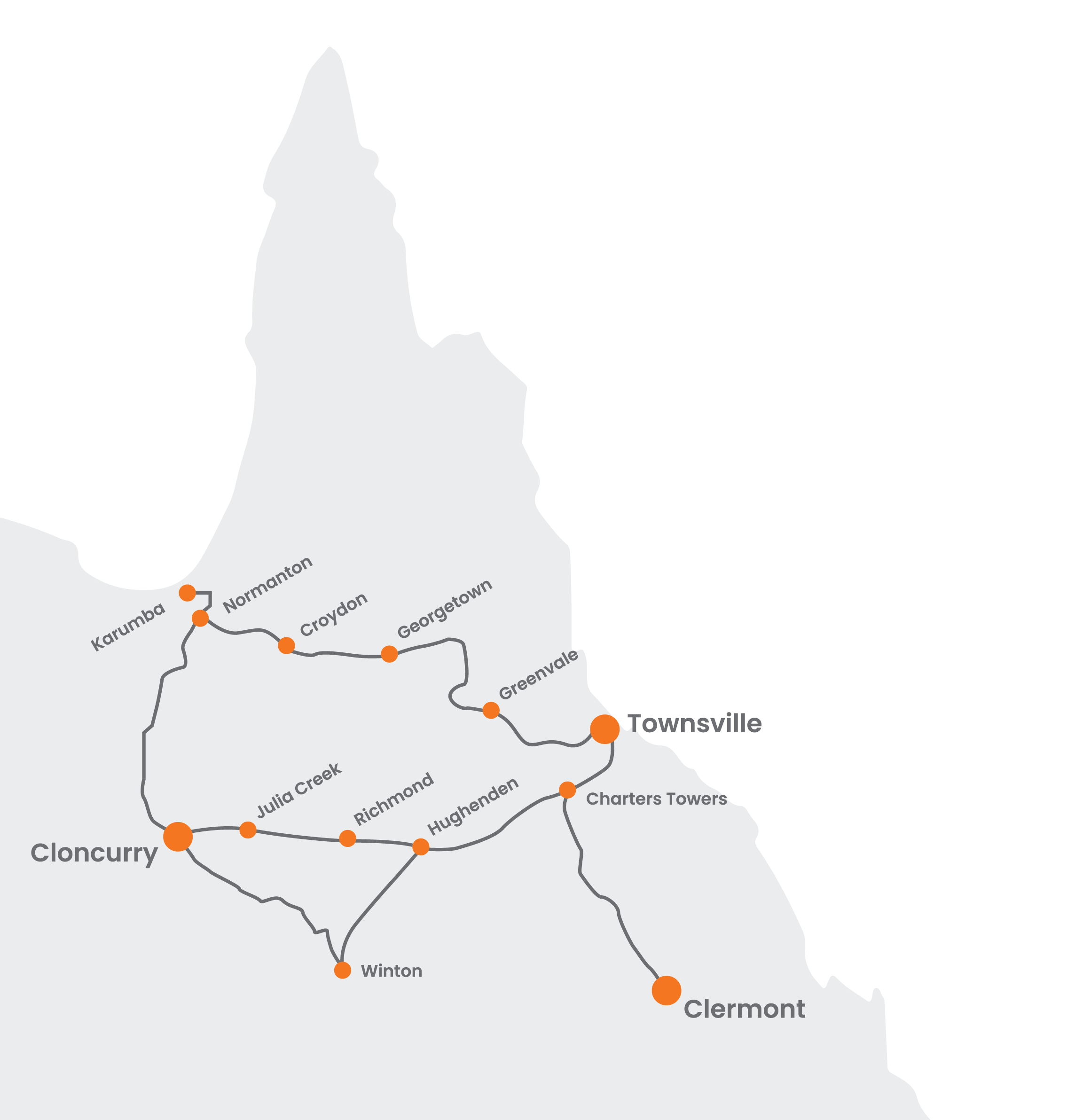 Map of The Computer Workshop On The Road Locations